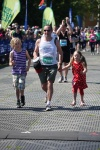 Douglas and Matilda - finishing line Edinburgh Marathon 27th May 2012